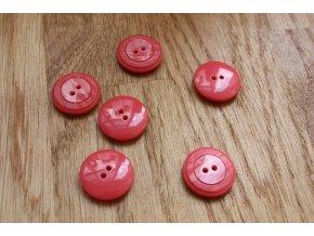 Růžový dvoudírkový knoflík Prada, 19mm