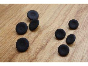 Tmavě hnědý matný knoflík, 15mm, 20mm