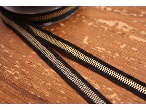 """Žakárová stuha """"zip"""", 10mm"""