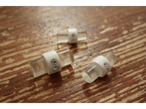 Plastový knoflík s kamínky design Miu Miu