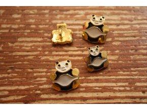 Zlatý knoflík ve tvaru pandy