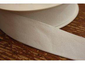 Bílá rypsová guma, 35 mm