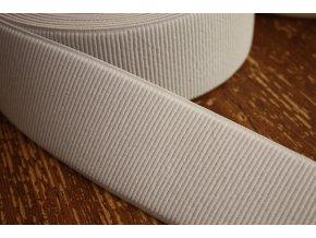 Bílá široká žebrovaná guma, 60 mm