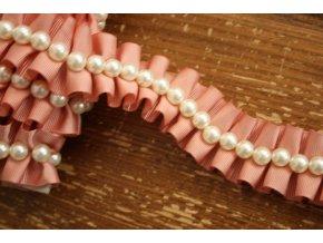 Skládaná bordura s perly