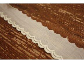 Bavlněná madeira-volánky (béžová až zelená)