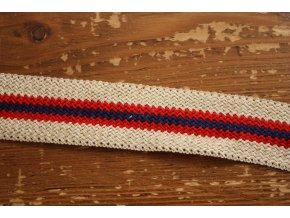 Pletená pruhovaná stuha