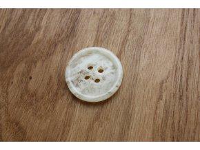 Knoflík se smetanovým melírem (menší)