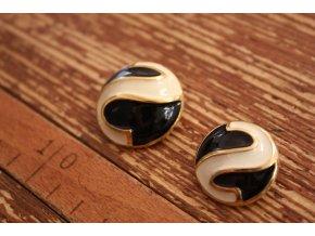 Zlatý knoflík s ouškem design Roberto Cavalli