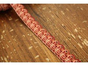 Červeno-pudrový prýmek