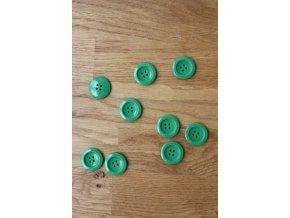 Zelený knoflík s prolísem 4D