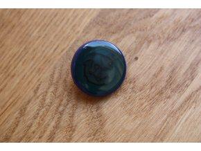 Modrý knoflík s kotvou