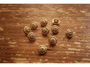 Zlatý knoflík inspirovaný Cartier