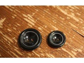 Černý lesklý knoflík, 20mm, 25mm