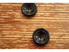 Černý lesklý knoflík, 25mm