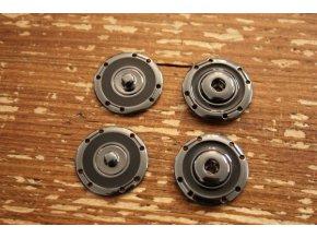 Kovové patenty 24mm, šedý kov