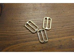 Jednoduchá zlatá spona, 30mm a 55 mm