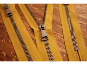Hořčicový zip Raccagni T5, 55 cm, 14cm