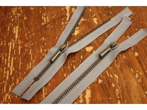 Šedý zip Raccagni T5, 50 cm, 16cm