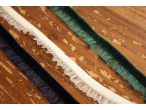 Sametová guma s volánky, 13mm
