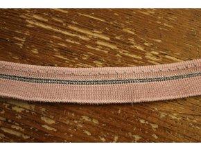 Světle růžový náplet s lurexem, 25mm