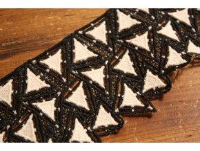 Černo-smetanová krajka design Chanel