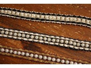 Prýmek s perly ve stylu Chanel, 18mm