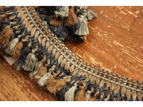 Bavlněný prýmek s  třásněmi, 11,5cm