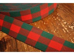Zeleno-červená kostkovaná guma, 4cm
