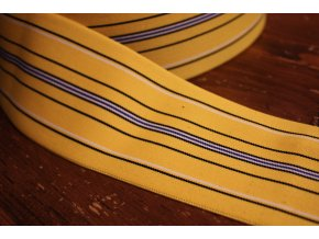 Žlutá pruhovaná guma, 75mm