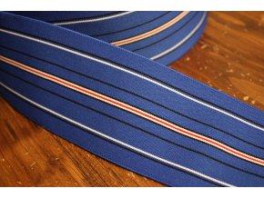 Modrá pruhovaná guma, 75mm
