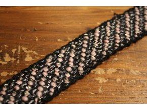 Šedo-růžový prýmek ve stylu Chanel, 30mm