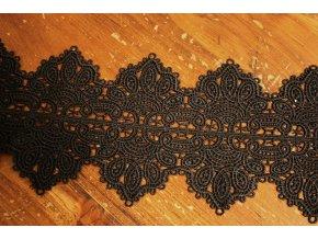 Luxusní černá krajka macrame