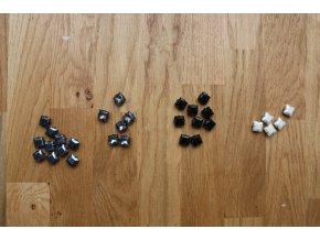 Našívací čtvercové kamínky-hematit