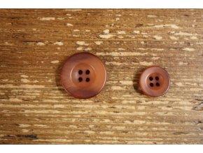 Čtyřdírkový kabátový knoflík, 15 mm a 20 mm