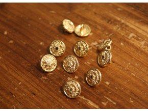 Zlatý knoflík s ouškem, 10mm