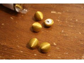 Zlatý saténový knoflík, 11mm