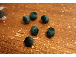 Zelený sametový knoflík