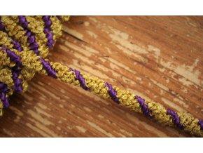 Zlato-fialový pružný provaz