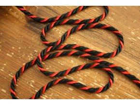 Černo-červený kroucený provaz
