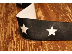 Černá guma s hvězdami, 40mm