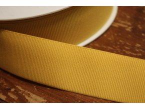 Žlutá rypsová guma, 35 mm