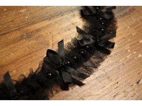 Tylová skládaná bordura design Chanel