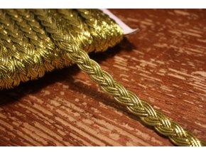 "Zlatý prýmek ""copánek"", 10mm"