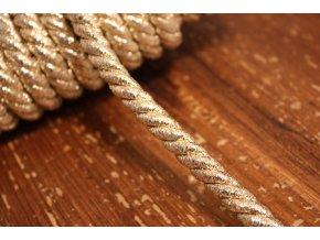 Zlatý kroucený provaz, 10mm