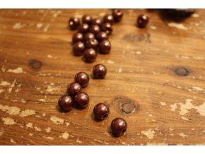 Hnědý knoflík perlička, 10mm