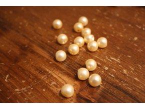 Meruňkový knoflík perlička, 10mm