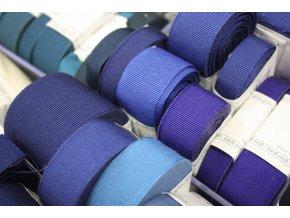 Rypsová stuha v odstínech modré, 40mm