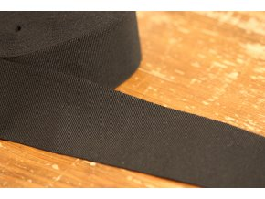 Černá rypsová stuha, 50 mm