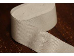 Bílá rypsová stuha, 50 mm
