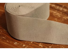 Béžová  rypsová stuha, 50 mm